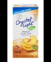 Crystal Light On-the-Go Peach Iced Tea Drink Mix 10 ct Box