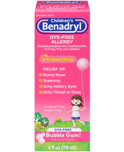Children's Benadryl® Bubble Gum! Allergy Relief Oral Solution...