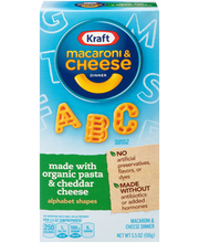Kraft Alphabet Shapes Macaroni & Cheese Dinner Made with Orga...