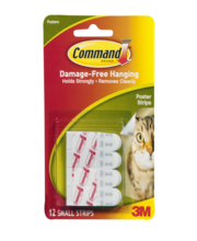 Command Damage-Free Hanging Poster Strips - 12 CT