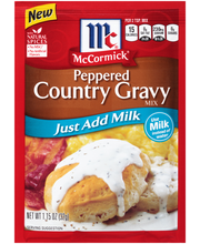 McCormick® Peppered Country Gravy Mix - Just Add Milk, 1.15 o...