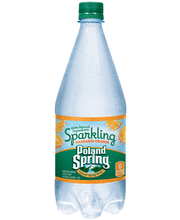 POLAND SPRING Sparkling Natural Spring Water Orange 1L Bottle
