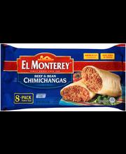 El Monterey® Beef & Bean Chimichangas 8 ct Bag