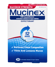 Mucinex® 12 Hour® Maximum Strength Extended-Release Bi-Layer ...