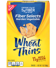 Nabisco Wheat Thins Fiber Selects Garden Vegetable Snacks 7 o...