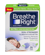 Breathe Right® Extra® Clear Nasal Strips 26 ct Box