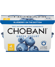 Chobani® Blueberry on the Bottom Non-Fat Greek Yogurt 4-5.3 o...