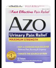 AZO Urinary Pain Relief Maximum Strength - 12 CT