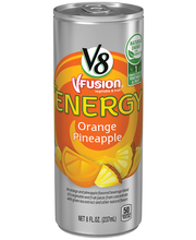V8 V-Fusion +Energy Orange Pineapple Vegetable & Fruit Juice ...