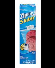 Ziploc® Slider Gallon Freezer Bags 10 ct Box