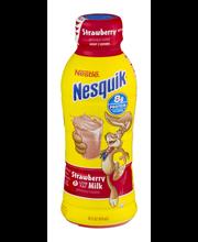 NESTLE NESQUIK Strawberry Flavored Low Fat Milk 14 fl. oz. Pl...