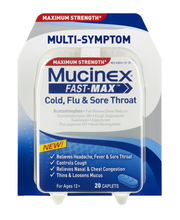 Mucinex® Fast-Max® Cold, Flu & Sore Throat Multi-Symptom Capl...