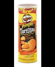 Pringles® Nacho Cheese Tortilla Corn Chips 6.42 oz. Canister