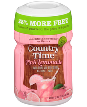 Country Time Pink Lemonade Drink Mix 23.9 oz. Canister