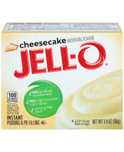 Jell-O® Cheesecake Instant Pudding & Pie Filling Mix 3.4 oz. Box