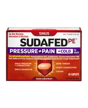 Sudafed Pe® Pressure+Pain+Cold for Adults Fever Reducer 24 ct...