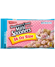 Malt-O-Meal® Mini Spooners® Strawberry Cream Cereal 36 oz. ZI...