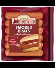 Johnsonville Smoked Brats 14oz zip pkg (100867)