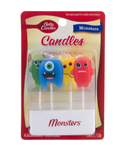 Betty Crocker Birthday Candles Monsters - 4 CT