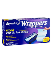 REYNOLDS WRAPPERS POP-UP FOIL SHEETS Pop-Up Pre-Cut Wrappers ...