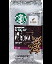 Starbucks® Decaf Dark Caffe Verona Ground Coffee 12 oz. Bag
