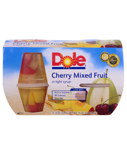 Dole® Cherry Mixed Fruit 4-4 oz. Cups