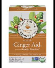 Traditional Medicinals Digestive Teas Organic Ginger Aid Tea ...