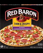 Red Baron® Thin & Crispy Crust Supreme Pizza 17.46 oz. Box