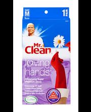 Mr. Clean Loving Hands Extra Long Super Premium Glove Medium ...