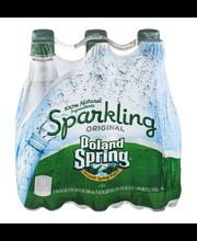 Poland Spring Sparkling Spring Water Original - 6 PK