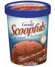 Lactaid Scoopfuls Double Chocolate Chip Ice Cream 1 Qt Tub