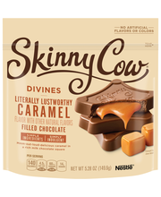 SKINNY COW Caramel Divines Filled Chocolates 5.28 oz. Bag