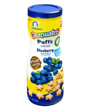 Gerber® Puffs Blueberry Cereal Snack 1.48 oz. Canister