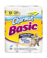 Charmin Basic® 1-Ply Double Toilet Paper Rolls 12 ct Pack