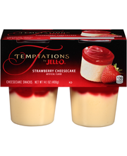 Temptations by Jell-O® Strawberry Cheesecake Snacks 4 ct Cups