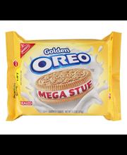 Nabisco Golden Oreo Mega Stuf Sandwich Cookies 13.2 oz. Tray