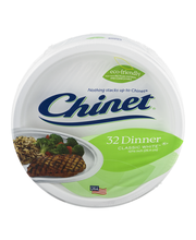 Chinet® Classic White™ Dinner Plates 32 ct Wrapper