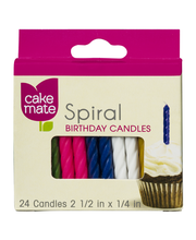 Cake Mate Spiral Birthday Candles - 24 CT
