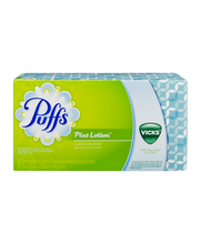 Puffs® Plus Lotion™ Vicks® Scented White Facial Tissues 88 ct...