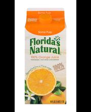 Florida's Natural 100% Orange Juice Some Pulp