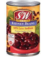 S&W® 50% Less Sodium Kidney Beans 15.25 oz. Can