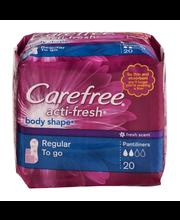 Carefree Acti-Fresh Body Shape Pantiliners Regular Fresh Scent - 20 CT