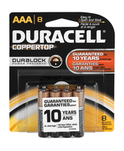 Duracell CopperTop AAA Alkaline Batteries 8 ct Pack
