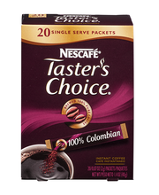 NESCAFE TASTER'S CHOICE 100% Colombian Instant Coffee 20-0.07...