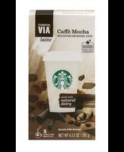 Starbucks® VIA® Instant Latte Caffe Mocha Instant Coffee 5 ct...