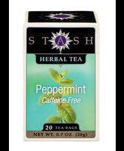 Stash Peppermint Caffeine Free Herbal Tea Bags 20 Ct Box