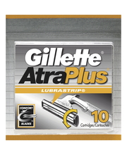 Gillette® AtraPlus® Razor Cartridges 10 ct Carded Pack