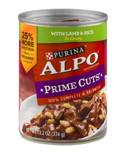 Purina Alpo Prime Cuts With Lamb & Rice in Gravy Dog Food 13....