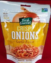 Fresh Gourmet® Garlic Pepper Crispy Onions 3.5 oz. Bag