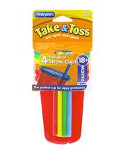 The First Years Take & Toss Spill-Proof Straw Cups 18+ Months...